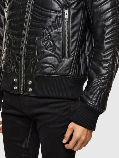 Diesel - L-FUTURE, Black - Leather jackets - Image 5