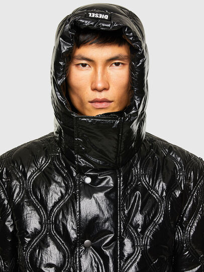 Diesel - W-CRAWFORD-SHINY, Black - Winter Jackets - Image 3