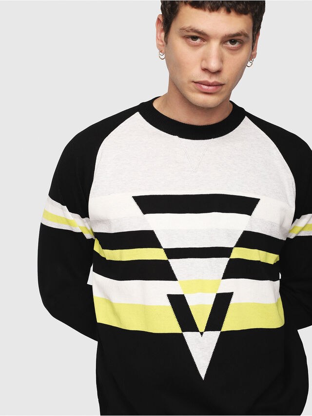 Diesel - K-SHUFF, Black/White - Knitwear - Image 3