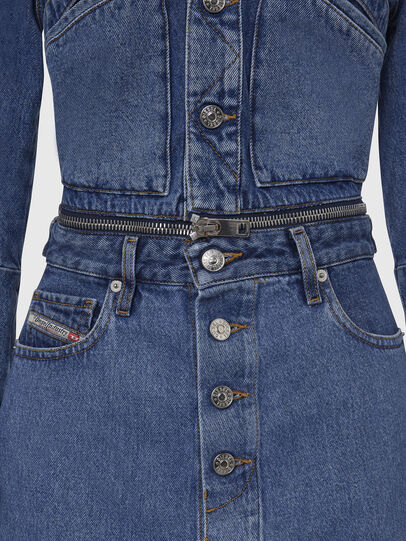 Diesel - DE-BLOCHY, Medium blue - Denim Jackets - Image 4