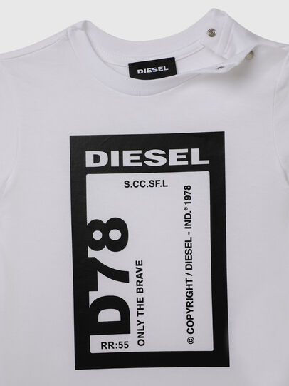 Diesel - TFULL78B, White - T-shirts and Tops - Image 3