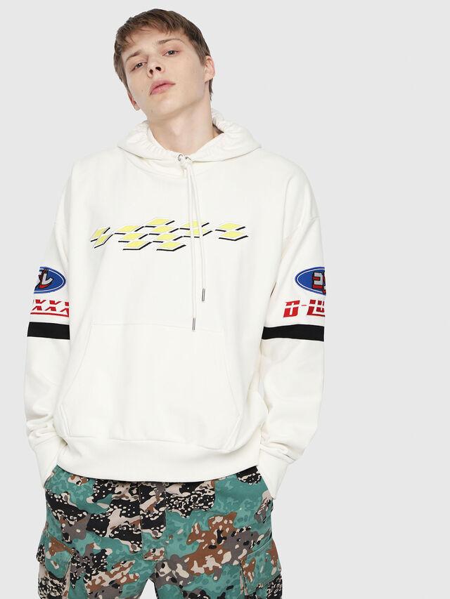 Diesel - S-ALBY-HOOD-YA, White - Sweaters - Image 1