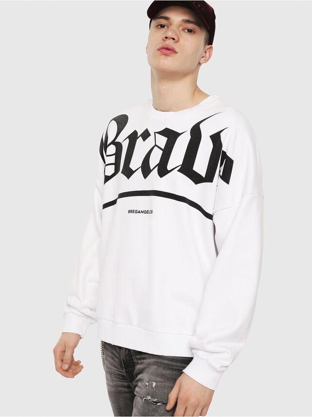 Diesel - S-YOSHIOR-Y1, White/Black - Sweaters - Image 1