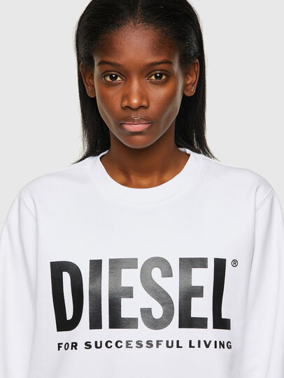 Diesel - F-ANGS-ECOLOGO, Black/White - Sweaters - Image 3