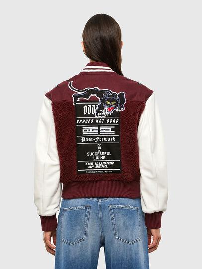 Diesel - L-KOLT, Violet - Leather jackets - Image 2