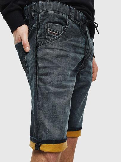 Diesel - D-KROOSHORT JOGGJEANS, Dark Blue - Shorts - Image 4