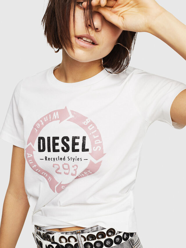 Diesel - T-SILY-C1, White - T-Shirts - Image 4