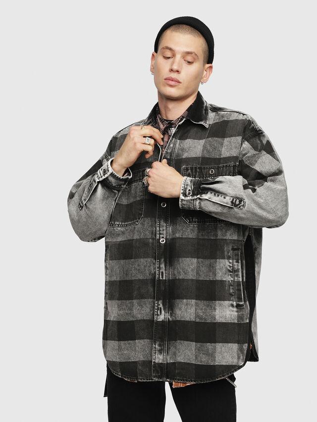 Diesel - D-LOREN, Black/Grey - Denim Jackets - Image 1