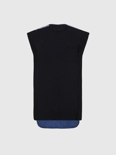 Diesel - M-BYRNE, Black/Blue - Dresses - Image 1