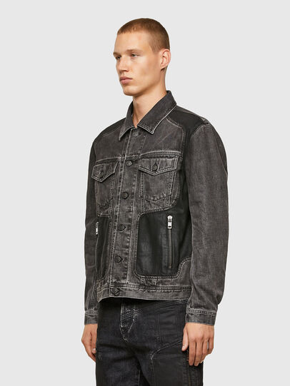 Diesel - NHILL-ROD-SP, Black - Denim Jackets - Image 8