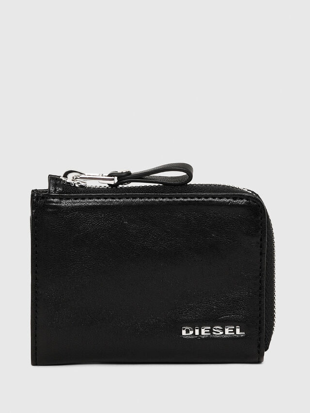 Diesel L-PASSME, Black Leather - Small Wallets - Image 1