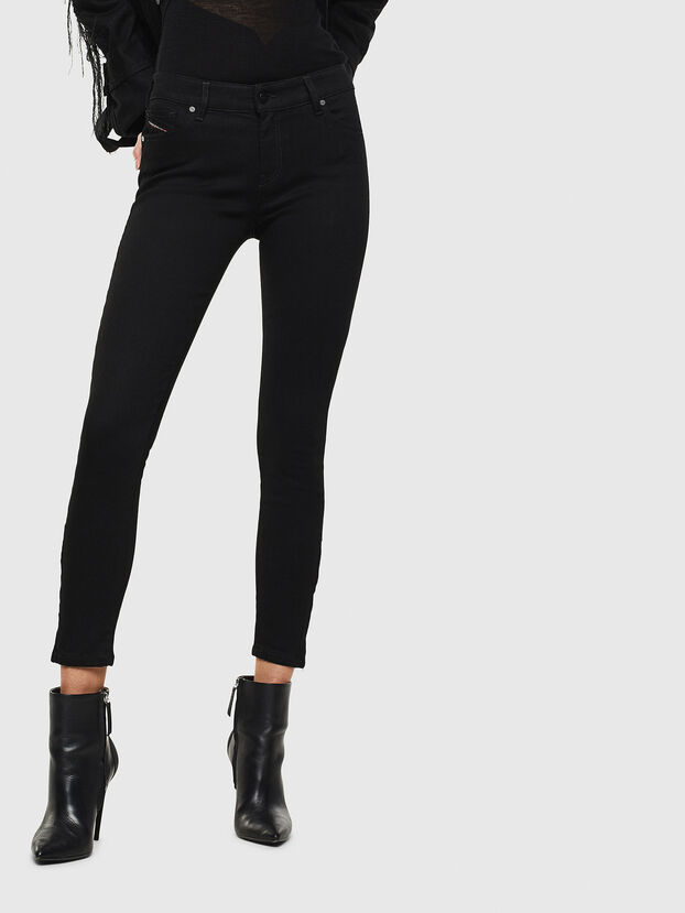 Slandy Zip 069EF, Black/Dark grey - Jeans