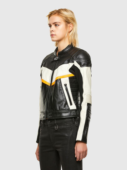 Diesel - ASTARS-LQUATTRO-B, Black - Leather jackets - Image 7