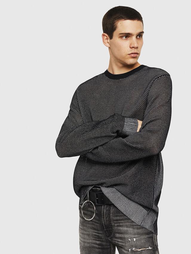 Diesel - K-NEST, Black - Knitwear - Image 1