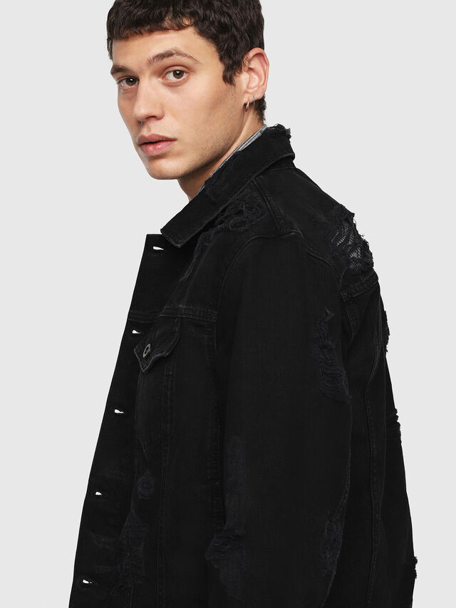 Diesel - D-HILL, Black - Denim Jackets - Image 5