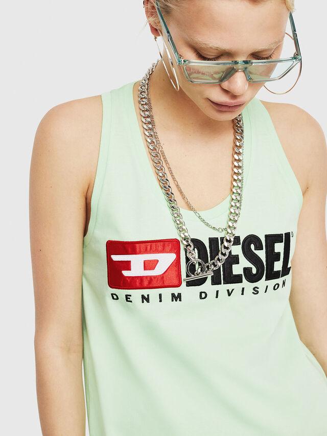 Diesel - T-SILK, Green Fluo - Tops - Image 3