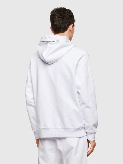 Diesel - S-GIRK-HOOD-ZIP-COPY, White - Sweaters - Image 2