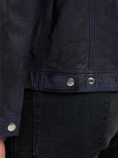 Diesel - L-NHILL-TRE, Dark Blue - Leather jackets - Image 5