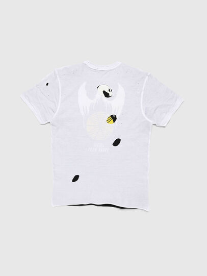 Diesel - TJUSTLAY, White/Black - T-shirts and Tops - Image 2
