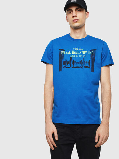 Diesel - T-DIEGO-S13, Blue - T-Shirts - Image 1