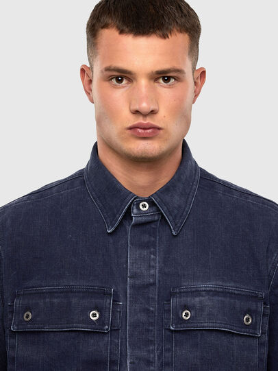 Diesel - D-VERSO, Dark Blue - Denim Shirts - Image 3