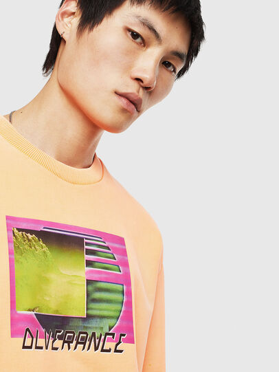 Diesel - S-BIAY-FLUO, Orange - Sweaters - Image 5