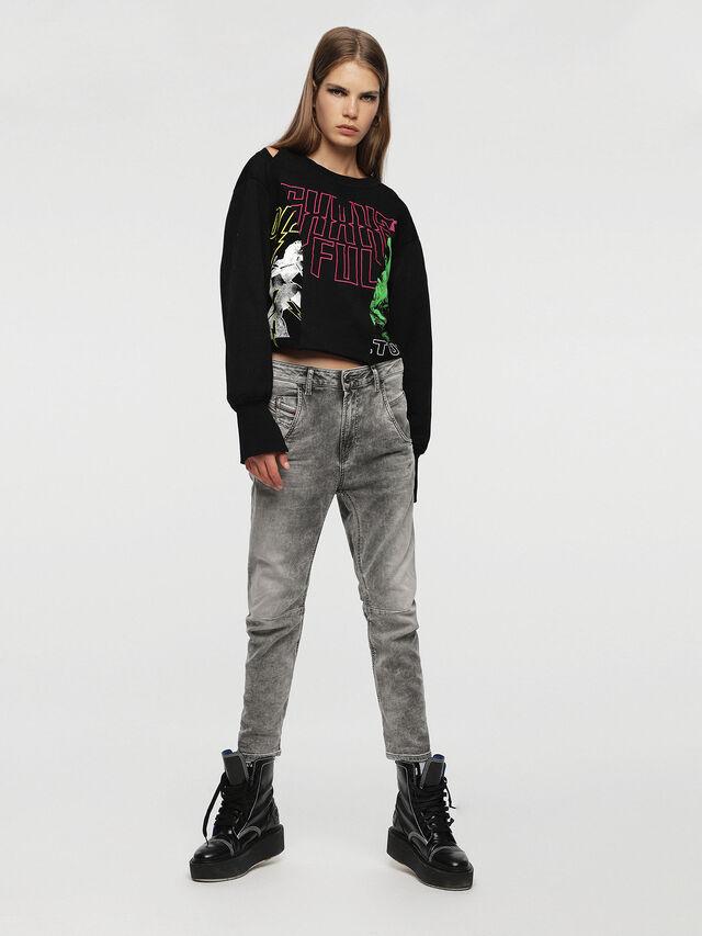 Diesel Fayza JoggJeans 0855B, Light Grey - Jeans - Image 4