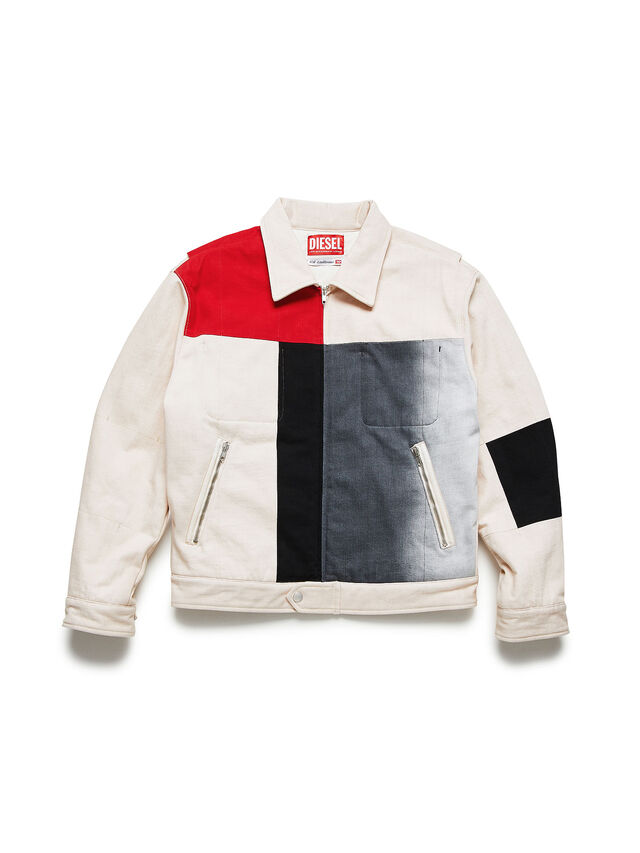 Diesel - GR02-J301-P, White - Denim Jackets - Image 1