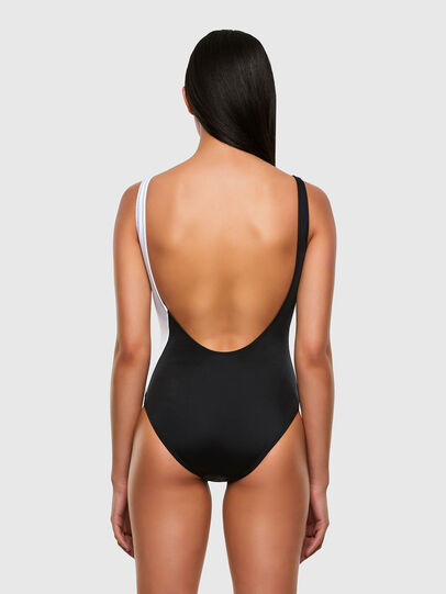 Diesel - BFSW-FLAMMYCUT, Black/White - Swimsuits - Image 2