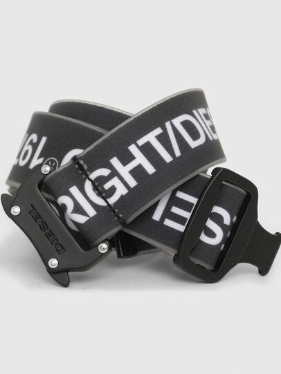 Diesel - B-TAPE, Black/White - Belts - Image 2