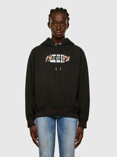 Diesel - F-ANG-HOOD-K22, Black - Sweaters - Image 1