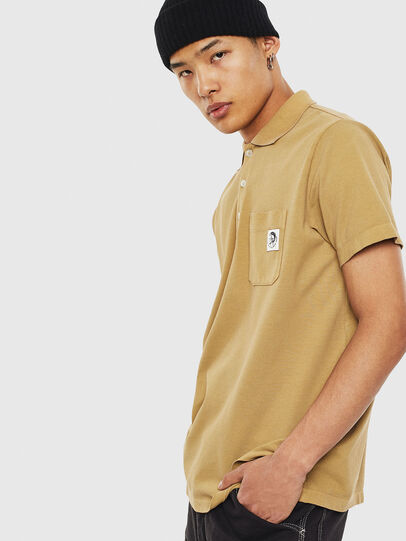 Diesel - T-POLO-WORKY, Light Brown - Polos - Image 4