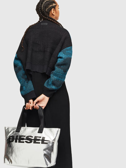 Diesel - F-BOLD SHOPPER II, Silver - Shopping and Shoulder Bags - Image 6