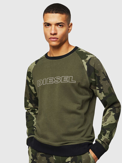 Diesel - UMLT-MAX, Green Camouflage - Sweaters - Image 1