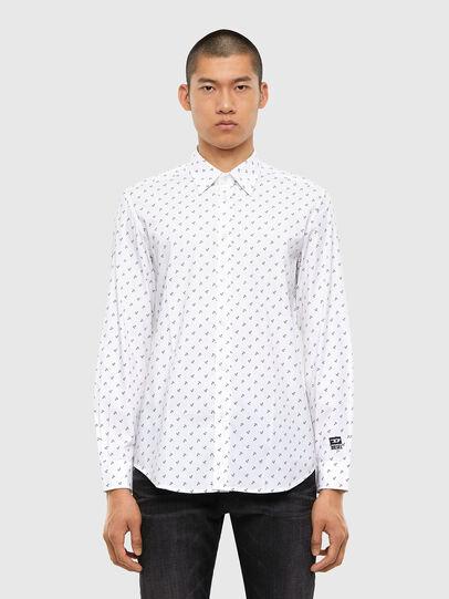 Diesel - S-RILEY-ANC-KA, White - Shirts - Image 1