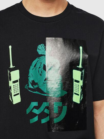 Diesel - T-JUST-T30, Black - T-Shirts - Image 3