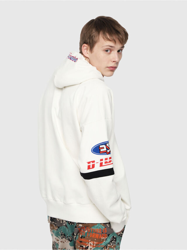Diesel - S-ALBY-HOOD-YA, White - Sweaters - Image 2