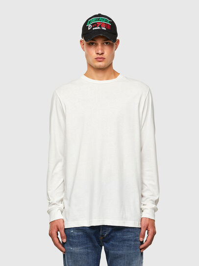 Diesel - T-JUST-LS-MOHI, White - T-Shirts - Image 4