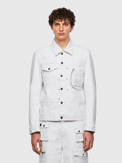 Diesel - D-COSNIL-SP, White - Denim Jackets - Image 1