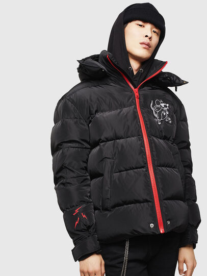 Diesel - CL-W-SMITH-LITM, Black - Winter Jackets - Image 1