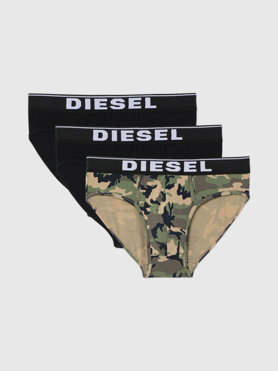 Diesel - UMBR-ANDRETHREEPACK, Grey/Black - Briefs - Image 1