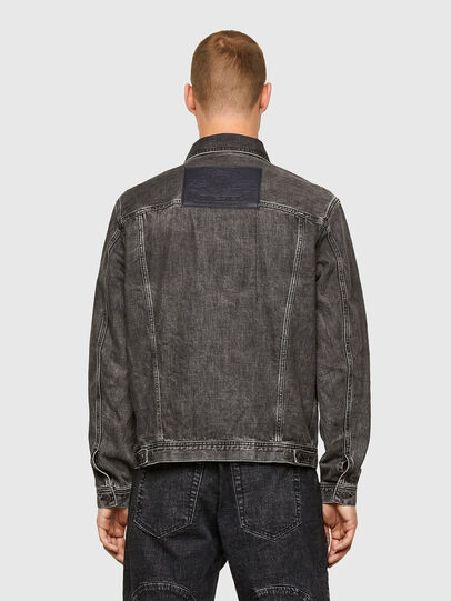 Diesel - NHILL-ROD-SP, Black - Denim Jackets - Image 2