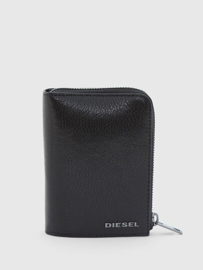 Diesel - L-12 ZIP, Black/Blue - Zip-Round Wallets - Image 1