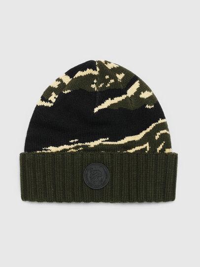 Diesel - K-MASK, Green/Black - Knit caps - Image 1