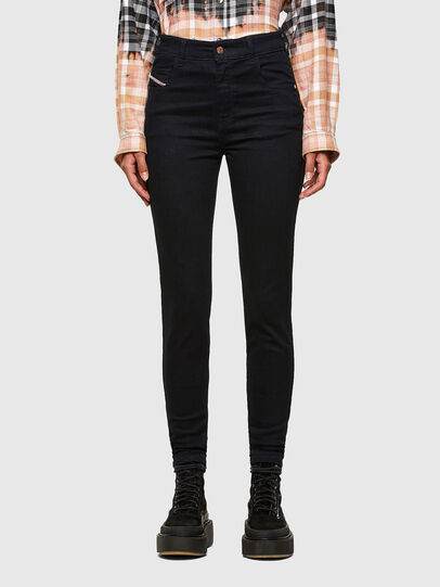 Diesel - Slandy High 009CW, Dark Blue - Jeans - Image 1
