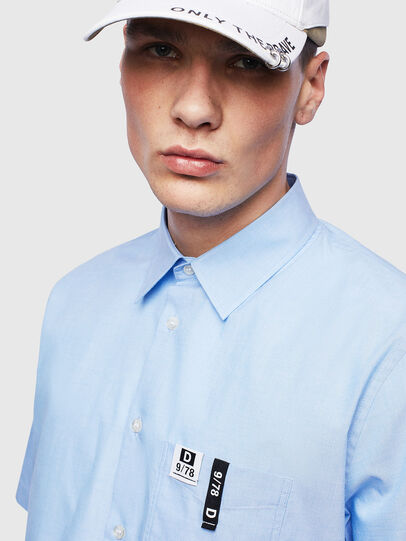 Diesel - S-FRY-FLUO, Light Blue - Shirts - Image 3