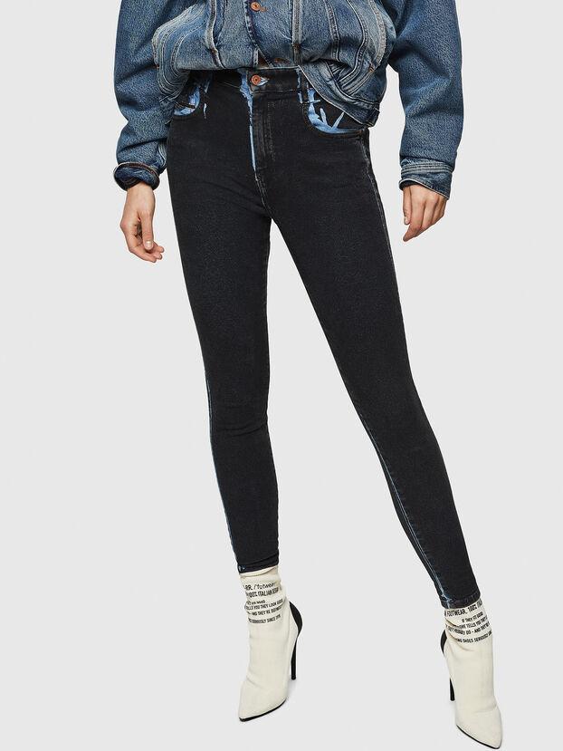 Slandy High 0094B, Dark Blue - Jeans
