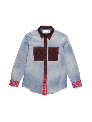 D-DEEPCHECK-A, Blue/Red - Denim Shirts