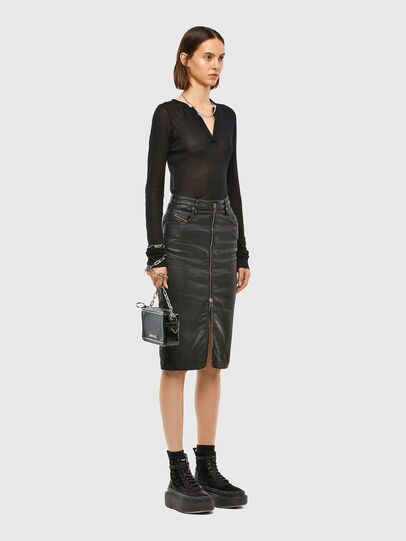 Diesel - D-ELBEE JOGGJEANS, Black - Skirts - Image 6