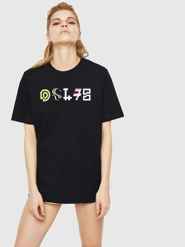 Diesel - T-JUST-Y17-FL, Black - T-Shirts - Image 1